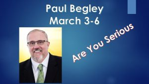 Sunday Service with special guest Paul Begley